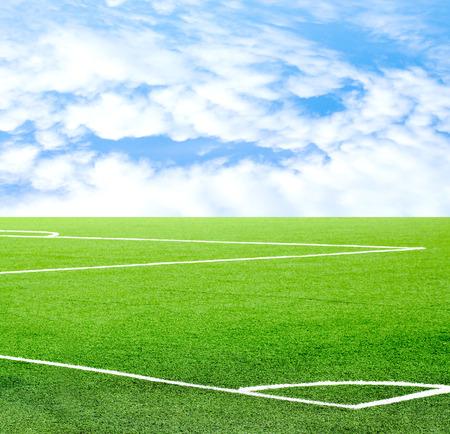 football field against the sky Stock Photo