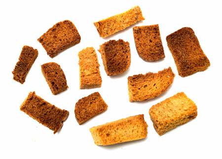 croutons: crumbs of bread croutons Stock Photo