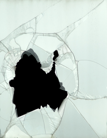cracked glass: cracked glass