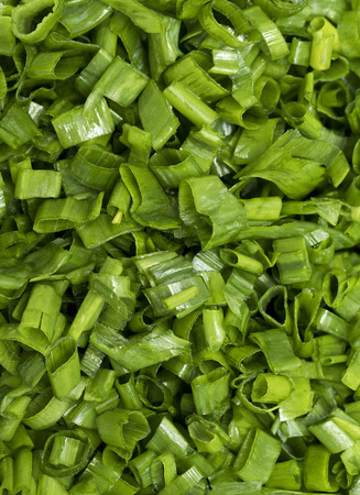 chopped: finely chopped green onions, background