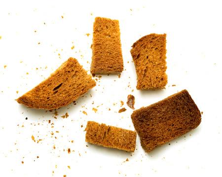 パンのクルトンのパン粉 写真素材