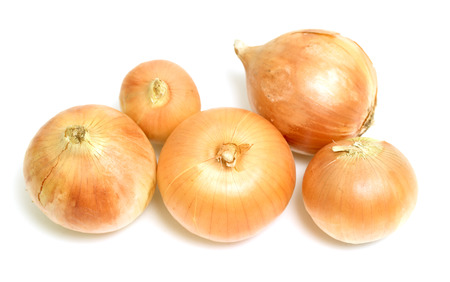 red onions: onion vegetable on white background