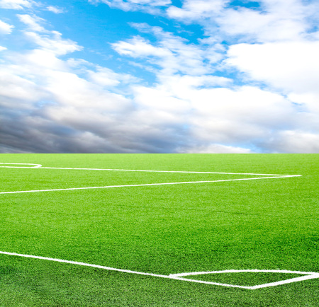 football field against the sky Imagens