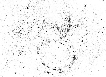 Black dust scratches on white paper