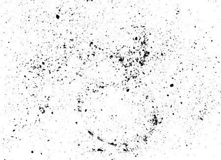 Zwarte stof krassen op wit papier Stockfoto