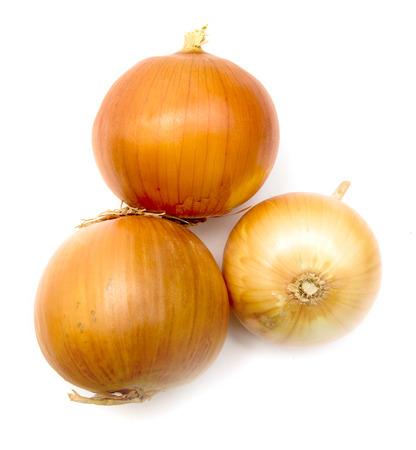 yellow onion on a white background