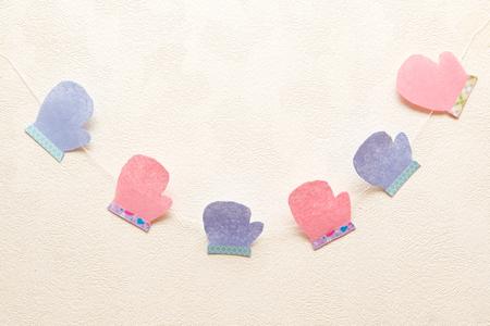 mittens: paper garland mittens