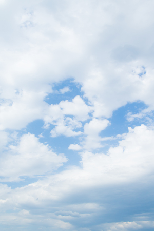 stratosphere: blue sky clouds Stock Photo