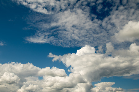 Dark thunderclouds powerful cumulus