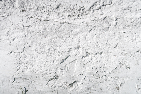dirty: White wall with coarse plaster Stock Photo