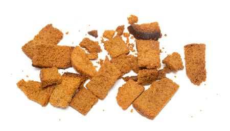 Rye biscuits on white background