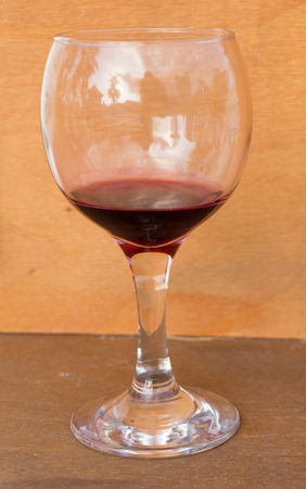 dirty glass of wine Stock Photo