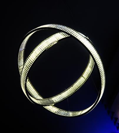Alerginal chandelier round on black Stock Photo