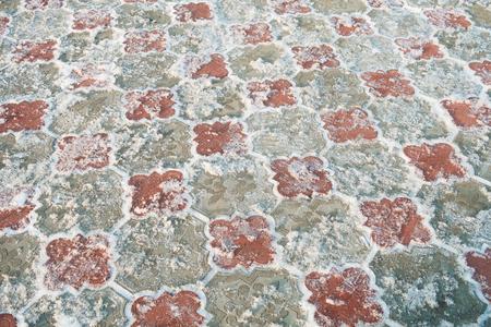 snow on the pavement