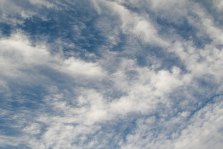 cirrus clouds on a blue sky