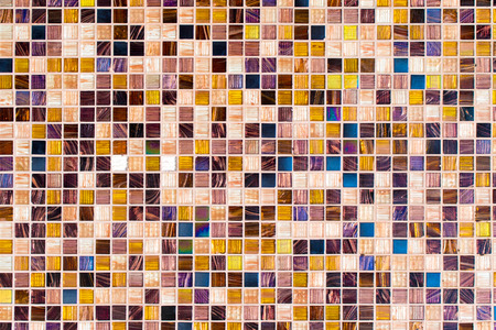 checkered multicolored mosaic wall background Stock Photo