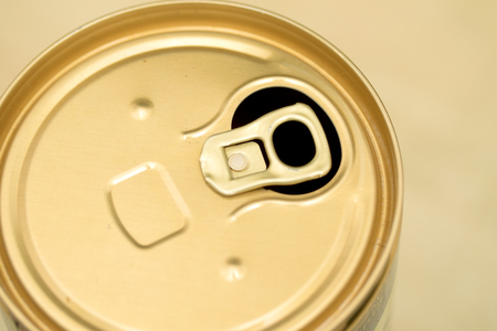 beer can open view from above Stock Photo