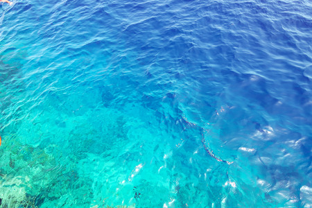 dark blue water of the sea as a background