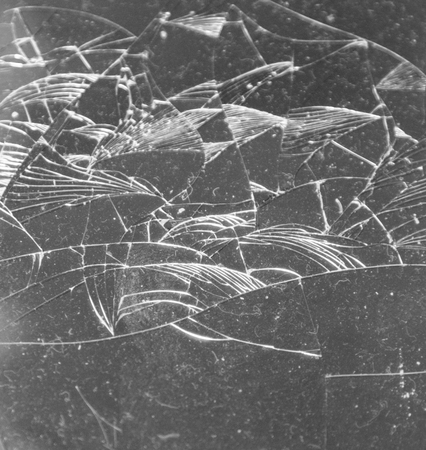 Broken glass as a background Stock Photo
