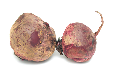 beetroot fruit on a white background