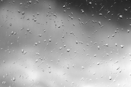 drops on the glass rain