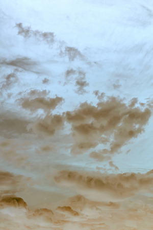 dust storm view of the sky