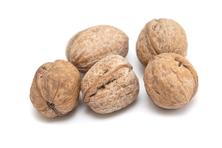 walnut on white background Stock Photo