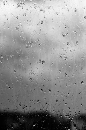 drops of rain on a windowpane, background 写真素材