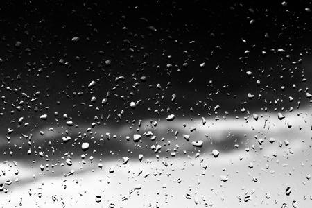 drops of rain on a windowpane, background Stock Photo