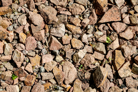 granite crushed stone as a background