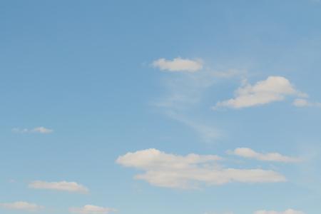 landscape white clouds on a blue sky