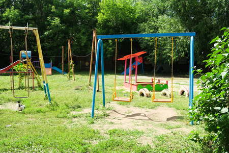 children's playground with swings park