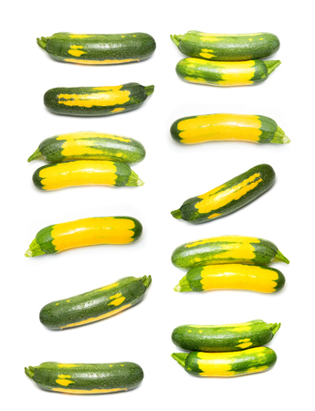 courgette squash isolated on white background