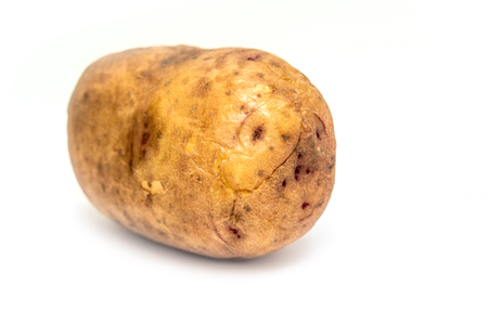 potato tuber on white background