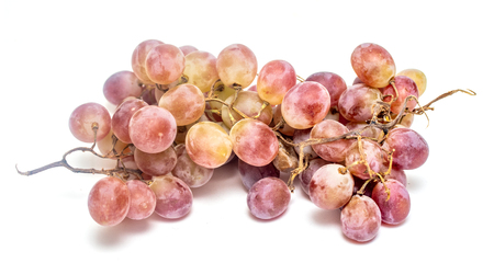 ripe bunch of grapes on a white background Stock Photo
