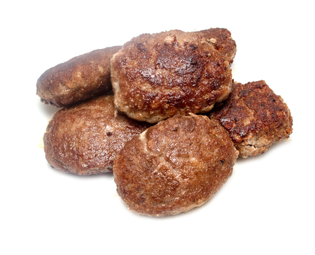 fried meatballs on a white background Stock fotó