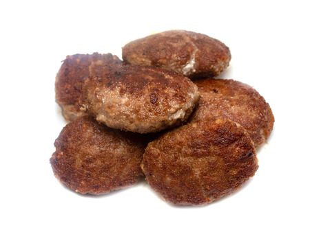 fried meatballs on a white background Imagens