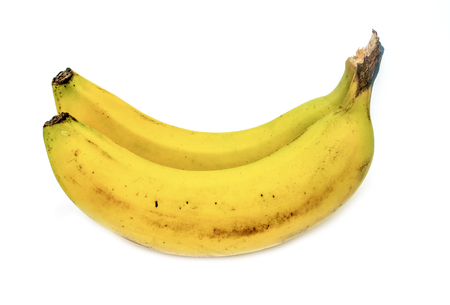 bananes sur fond blanc Banque d'images