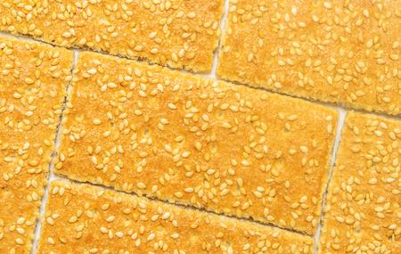 sesame crackers cookies on white background 写真素材