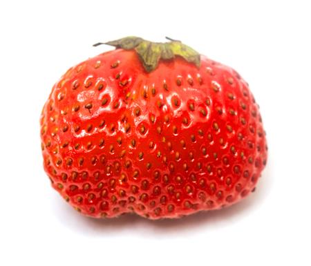 fraise rouge sur fond blanc Banque d'images