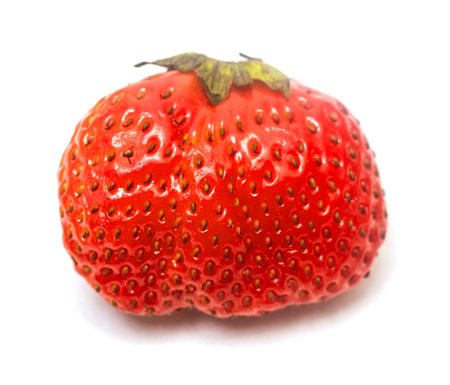 red strawberry on a white background Imagens