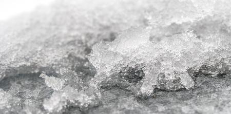 out of focus ice snow macro monochrome