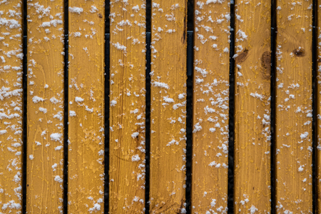 wooden fence in the snow background Zdjęcie Seryjne