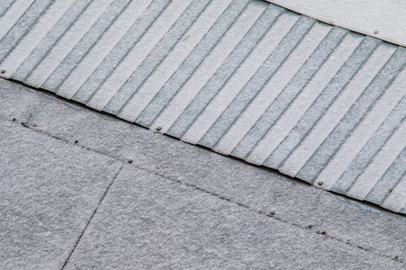 galvanized roof in the snow