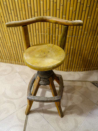 wooden table chair, old interior