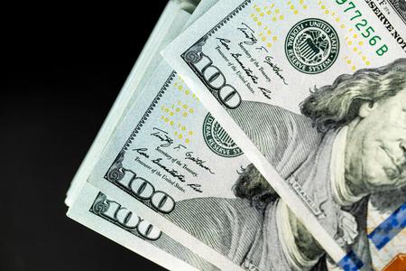 money 100 dollar bills as a background, business