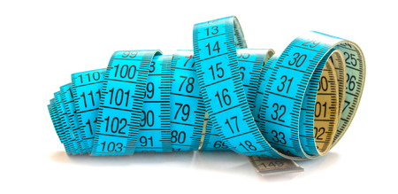 meter tape measure isolated on white background