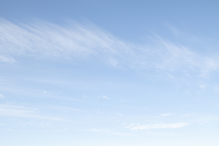 Daytime blue sky with white clouds. Sky background