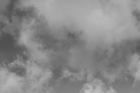 Sky with clouds. Black and white photo.