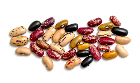 Beans isolated on white background. Banque d'images